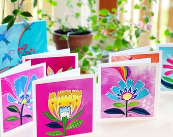 Greeting Card Set : Love Blooms 5x5 (12 cards)