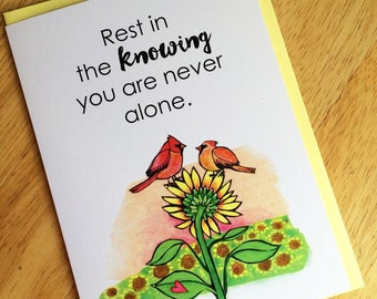 Greeting Card : Never Alone
