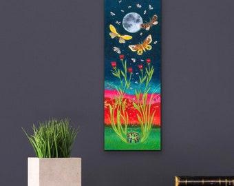 Giclée Canvas Print : Sisters Rising -Size 6.5 x 17