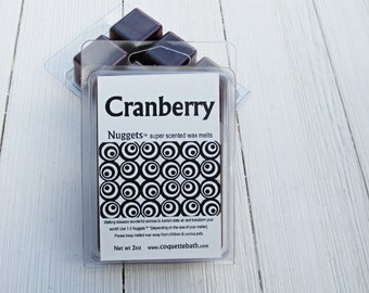 Cranberry wax melts, Choose size, Fall and Holiday scented home fragrance, classic holiday berry scent, tart fragrance