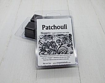 Patchouli Wax Melts, Nuggets, Choice of size, strongly scented wax, classic incense fragrance, hippie scented wax, no burn home scent