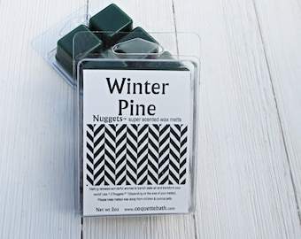 Winter Pine wax melts, Choose size, Fall and Holiday scented home fragrance, Classic pine scent, retro holiday fragrance