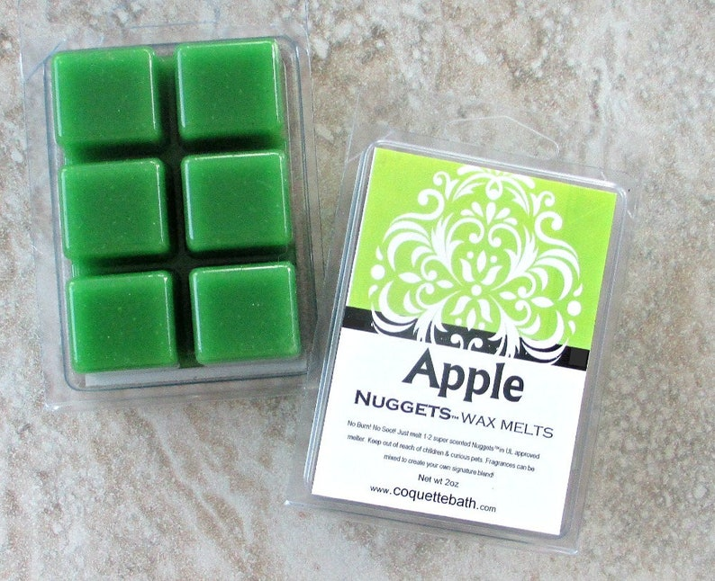 Choice of size Super scented /'Nuggets/' wax tarts banish stale aromas with no soot home fragrance Green Apple scented wax melts