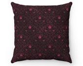 Gothic Rose Spun Polyester Square Pillow