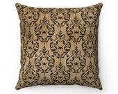 Gothic Vintage Style Black Widow Spun Polyester Square Pillow