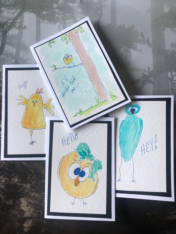 Small Greeting Cards  -  Hand Painted Cards  -  Watercolor Cards  - Handmade Cards  -  BeckyPaints Cards