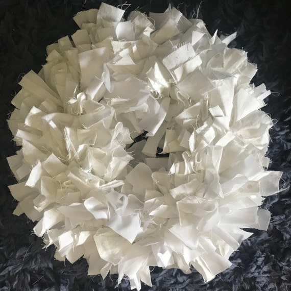 White Muslin Wreath with Decoration Choices - Spring, Holiday, Winter Decorations - White 12 Inch Hand Tied Wreath - Handmade by BeckyPaints