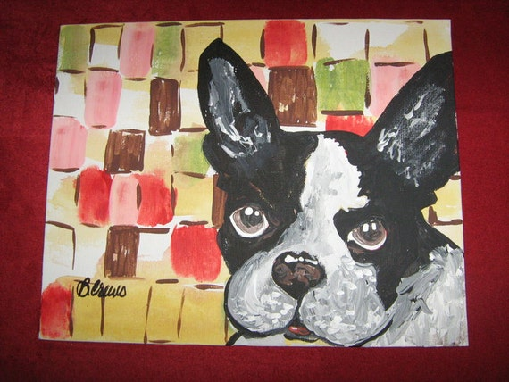 "Custom Pet Paintings Available on 10x10"" Custom Canvas Choice of Background Starting at 75 Dollars"