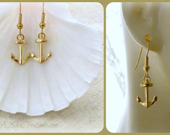 Nautical Anchor Earrings