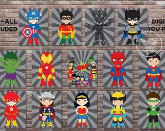 Superhero room decor | Etsy