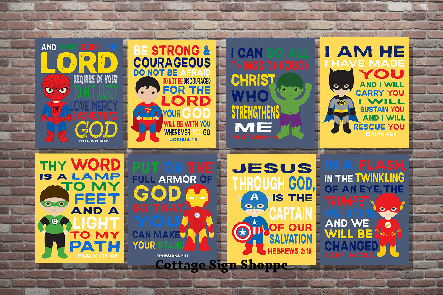 Kids Superhero Bible Verse Kids Scripture Art DIGITALYOU | Etsy