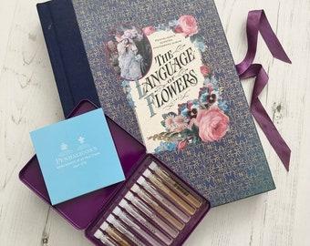 Language of Flowers Gift Set - Vintage Photo Album - Victorian Flowers - Flower Lover Gift - Victorian Ephemera - Penhaligon Perfume Library
