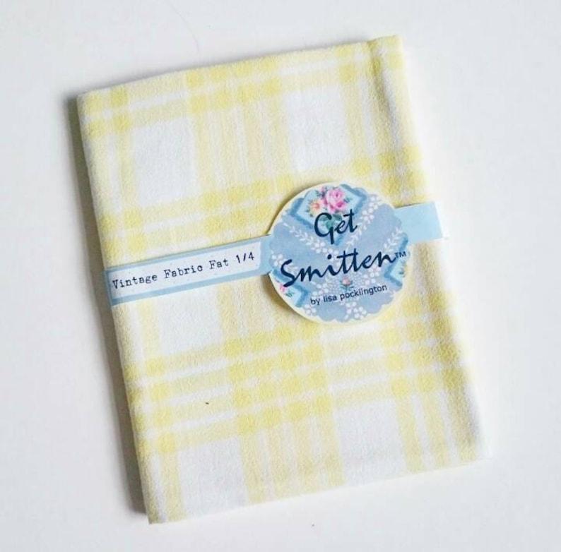 Sunshine Yellow Gingham Check Geometric Grid Cotton English image 0
