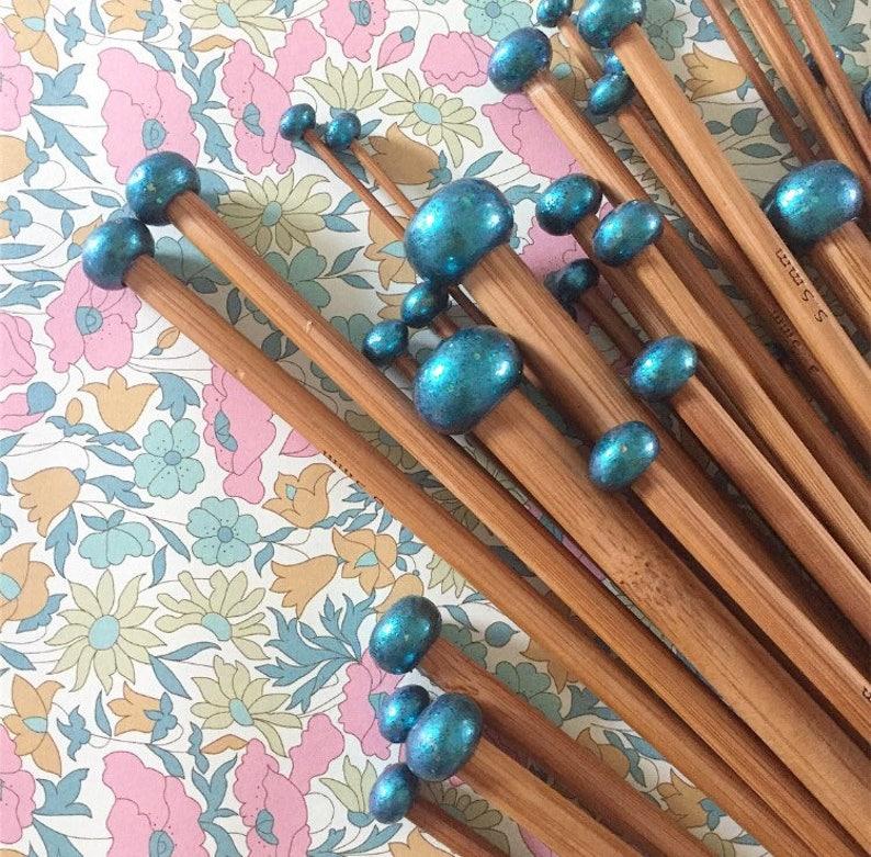 Mermaid Gift Set Bamboo Knitting Needles Stylish Knitting image 0