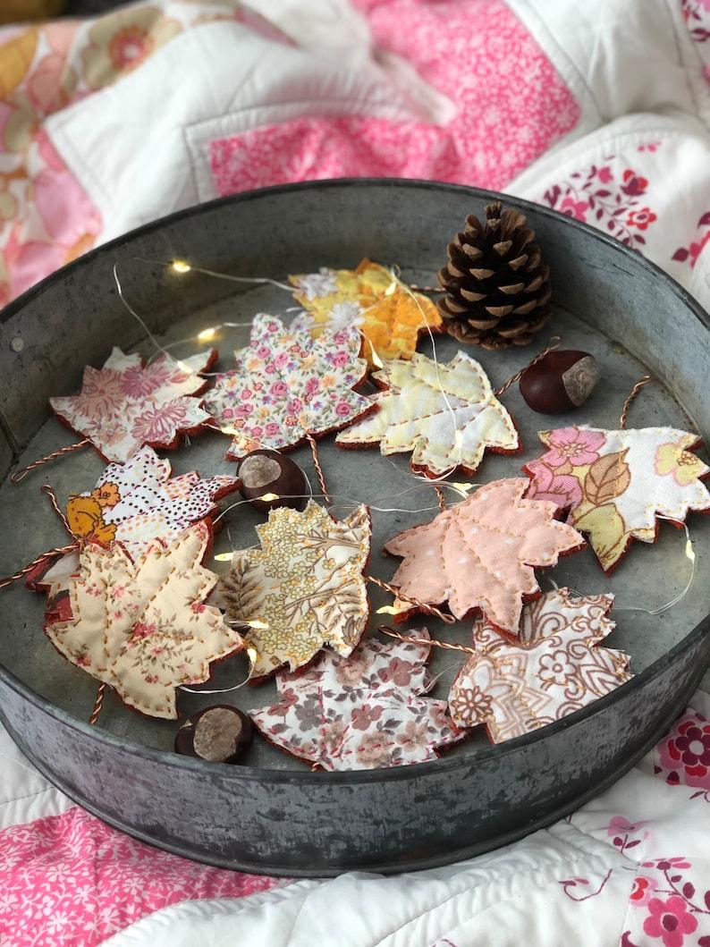 Autumn Garland Fall craft project Autumn Decor Craft Kit image 0