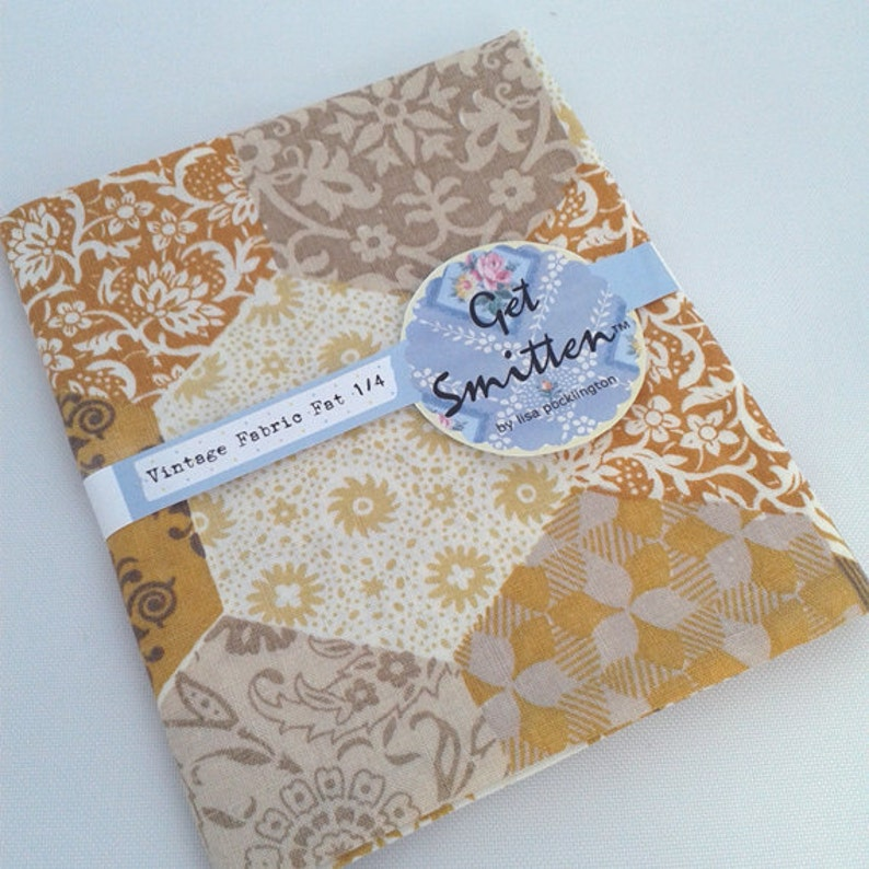 Mustard & Grey Hexi EPP English Paper Piecing Patchwork Print image 0