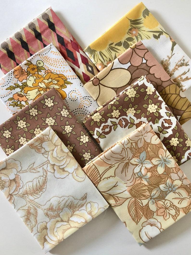 Autumn Colours Vintage Fabric  Vintage Fat Quarter Bundle  image 0