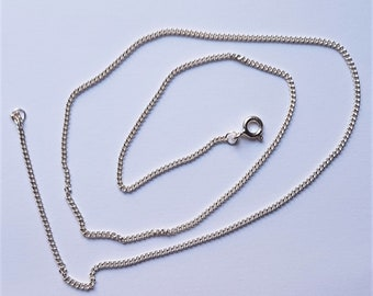 Silver Chain Necklace Silver Necklace Minimal Chain Gift For Her Vintage Necklace Silver Chain Mens Chain 16 Inch BX1 Vintage Chain