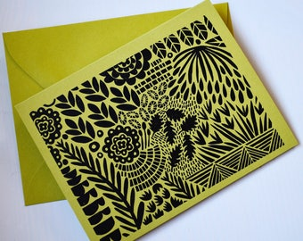 Hand Printed Hand Stamped Greeting Card-blank card-handmade cards-all occasion cards-greeting cards