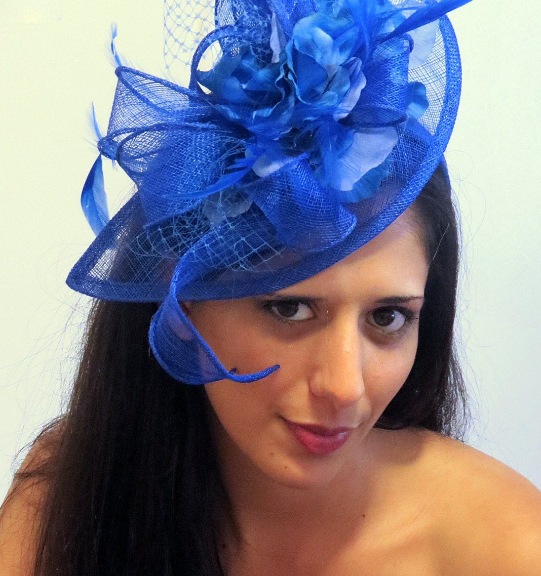 Fascinator Royal Blue Wedding Hat STAVVY BLUE  f7821a70b0a