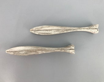 Handmade Fish Art or Shelf  Of Nautral Found Driftwood Artistry of Mother Nature Used for Candles, shells, birds, etc by Janet Dosenberry