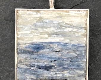 Mosaic Jewelry - Kyanite and Selenite Pendant