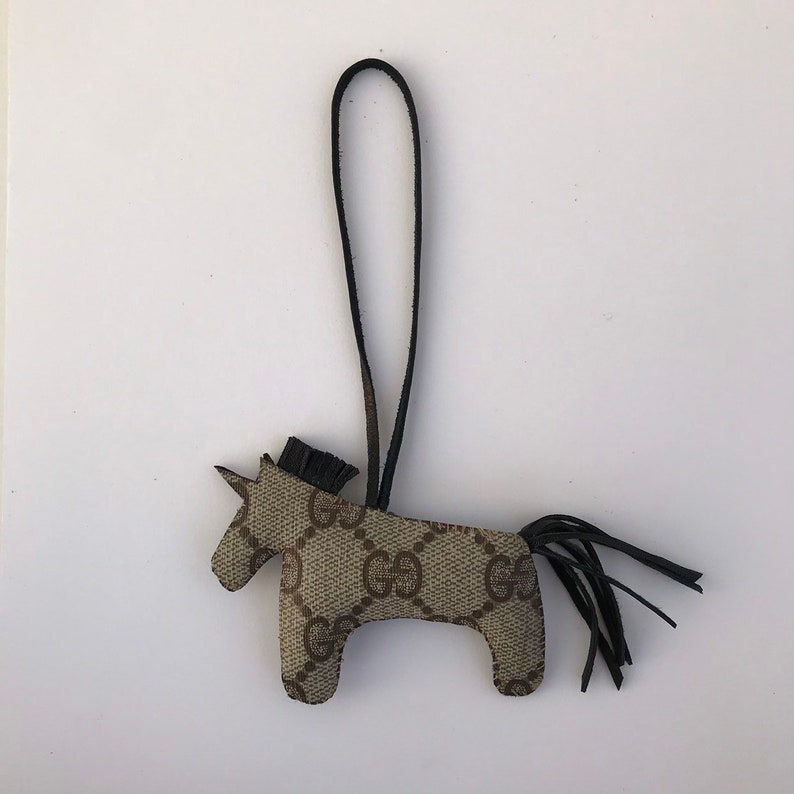 4666f7ed3a318d GUCCICORN black unicorn bag charm repurposed Gucci | Etsy