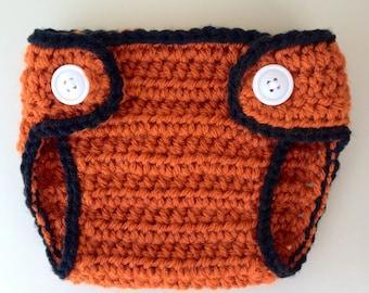 Baby Diaper Cover orange & black newborn diaper cover newborn photo prop baby gift San Francisco Giants