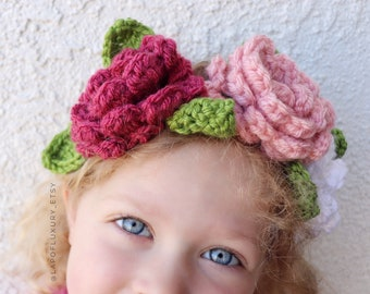 Flower Crown, Flower Crown for Girls, Flower Crown for Toddlers, Flower Crown for Women, Flower Crown Headband, Wedding Flower Crown