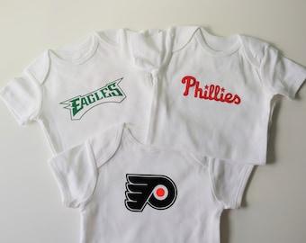 c6d6a67b2 Philadelphia Sports Set of Onesies