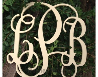 Wooden Monogram - Unpainted