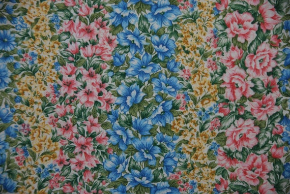Vertical Flower Garden Print | Etsy