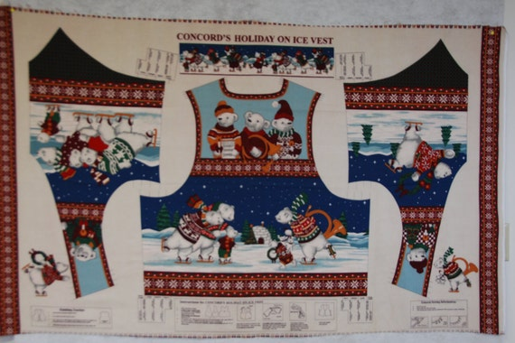 """Cotton Quilt Fabric Christmas /""""The Mistletoe/"""" Picture Patches Cranston by1//2Yard"""