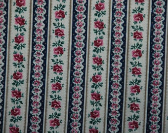 Floral Stripe Fabric