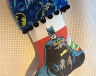 blue black batman stocking