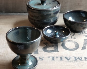 Altar Decor // Goblet Set // Space Clearing // Offering Cup // Incense Stick Holder // Altar Tools // Offering Set // Hand Thrown Pottery