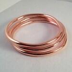 Handmade Copper Bangle - Copper Bracelet - Bridesmaids - Stacking Bangle