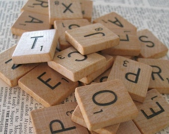 You Choose Scrabble Tiles, You Pick Your Letters, Scrabble Letters, Letters for Pendants, Scrapbooking, Mixed Media, Altered Art, Collage