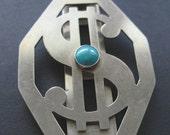 Vintage Silver Tone Money Clip