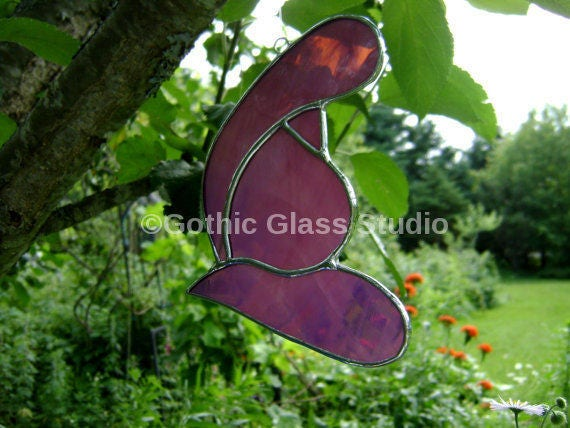 petal baby room LEAD FREE Stained Glass sun-catcher garden ornament glass art new baby baby gift baby shower gift