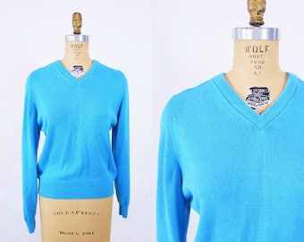"""ANNIVERSARY SALE // 1960s blue sweater 