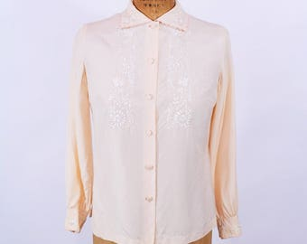 """ANNIVERSARY SALE // 1960s silk blouse 