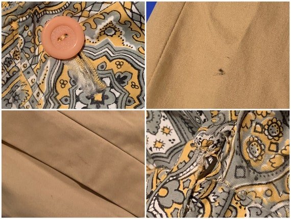 Vintage 1960s Reversible Trench   Paisley Print G… - image 10