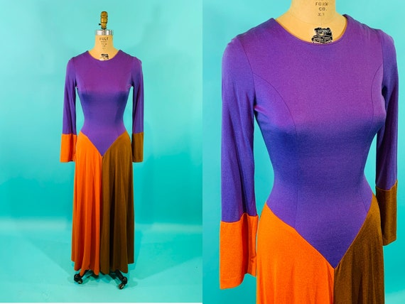 Vintage 1970s Colorful Dress | Mad Swirl Psychedel