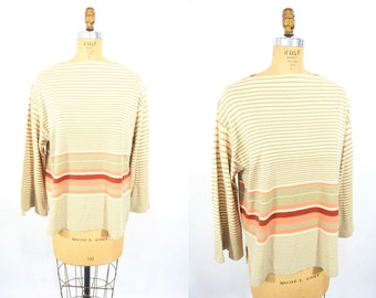 """1980s stripe sweater 