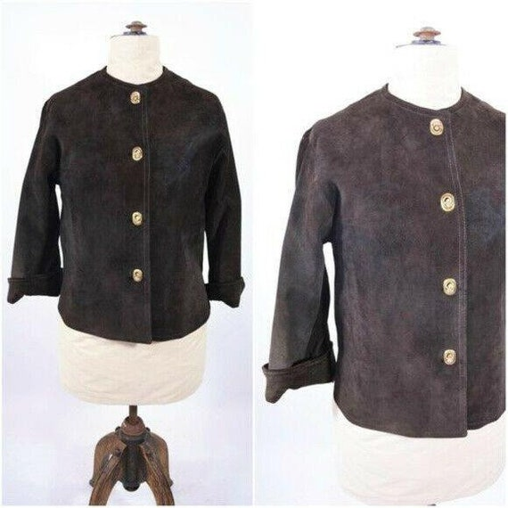 Vintage 1970s Suede Jacket   Chocolate Brown Boho