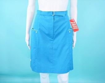 "Vintage 1980s Teal Skirt   Tail Deadstock Sports Skirt   W 26"""
