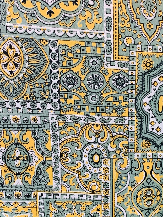 Vintage 1960s Reversible Trench   Paisley Print G… - image 2