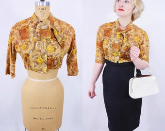 """ANNIVERSARY SALE // 1950s crop top 