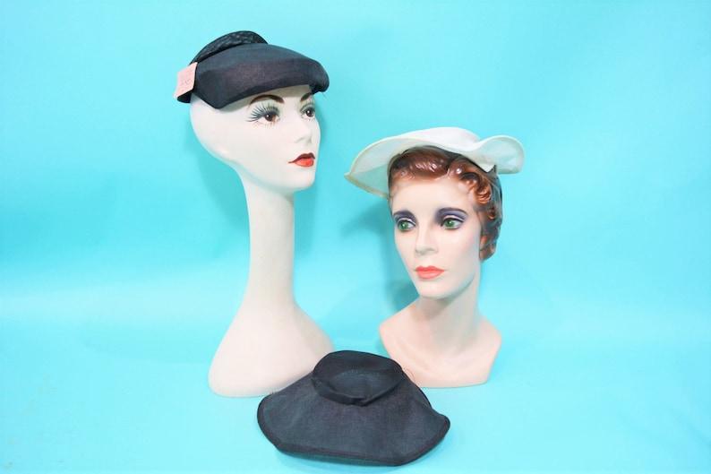 Vintage 1950s Hat Frames  Set of 3 DIY Craft Millnery Project image 0